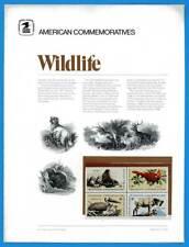 USPS COMMEMORATIVE PANEL #1 WILDLIFE CONSERVATION #1464-1467