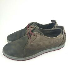 Merrell J42518 Ashland Tie Bungee Cord Gray Brown Leather Lace Up Sneakers 7.5