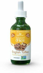Sweet Drops Liquid Stevia by SweetLeaf, 2 oz English Toffee 1 pack