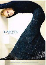 Publicité Advertising 1998 Haute Couture Lanvin