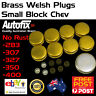 New SB Chev 283 307 327 350 Brass Welch Welsh Freeze Core Plug Set Gallery Kit