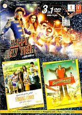 HAPPY NEW YEAR / FINDING FANNY / BHOOTHNATH RETURNS - 3 FILMS IN 1 BOLLYWOOD DVD