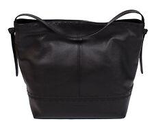 COLE HAAN BRYNN WOMEN'S BLACK LEATHER HOBO HANDBAG SHOULDER BAG