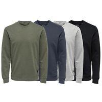 Only & Sons Men's Basic Sweatshirt Crew Neck Jumper, BNWT