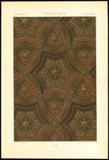1885 ANTIQUE PRINT-l'ornement polychrome Renaissance Déco (13)