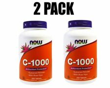 Now Foods, C-1000, Vitamin C Ascorbic Acid, 2 PACK, 1000 mg, 250 Tablets each