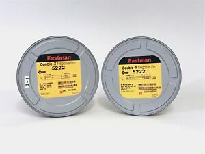 Kodak Eastman 5222 Double-X B/W 35mm Negative Film 2  - Film cans 122m 400' Arri