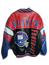 NFL New York Giants Leather Jacket, Mens Size Large Coat, G-III, Multi-Color