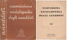 LZ- NUOVISSIMA ENCICLOPEDIA DEGLI ANEDDOTI -- MILANO --- 1941 - B - YFS208