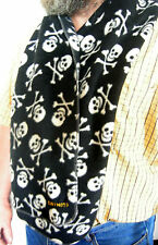 Fleece Warm Winter Scarf Black & White Skull & Cross Bones Motorbike Ski Fashion