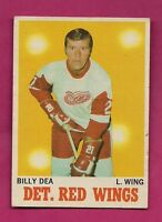 1970-71 OPC  # 30 DETROIT RED WINGS BILLY DEA GOOD CARD (INV# A1964)
