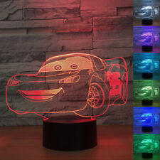 3D LED Night Light Cars Lightning McQueen Touch Swift Table Desk Bed Lamp Gifts