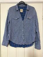 Hollister Blue Shirt Size Large Womens Long Sleeve (G240)