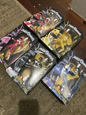 5 Ban Dai Metallic Power Rangers Legacy Collection Figures + 5 Original Figures