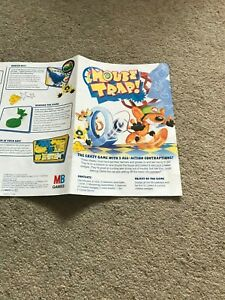 Mousetrap Game, Set Of Instructions. Genuine MB Games Part.