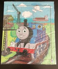 MB 2012 Gullane Thomas The Train 9 Pc Wooden Puzzle EUC