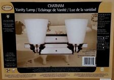 Chatman Vanity Lamp. Brush Pewter Finish light .Opal Glass  100W Type A.New
