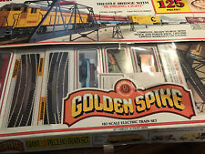 Vintage Bachmann Golden Spike HO Scale Electronic Train Set, 125 Pieces