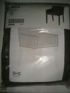 NEW IKEA NILS Chair Cover NILS Armchair Slipcover SKIFTEBO Dark Gray 602.932.84