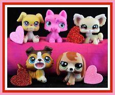 Littlest Pet Shop DACHSHUND DOG #2035 COLLIE #237 CHIHUAHUA 1199 #2876 VALENTINE