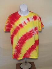 Unisex  Tye Dye T-Shirt Large Angled Stripes