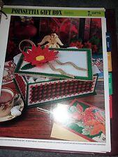 Plastic Canvas Poinsettia Gift Box pattern
