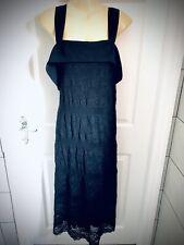 Siguiente Negro Encaje Vestido de Maternidad Talla 20