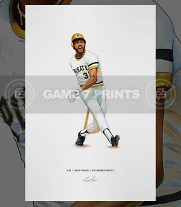 Dave Parker Pittsburgh Pirates Baseball Illustrated Print Poster Art