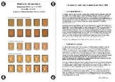 Nuancier spécialisé du timbre Ceres Siège de Paris 40 centimes