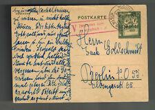 1941 Wloszozowa Poland Germany Ghetto Cover to Berlin Isaac Goldschmidt judaica