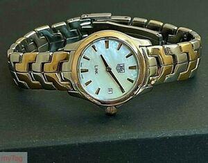 TAG Heuer SEL Ladies Bi-Metal 18k Gold Plated Watch WJF1450