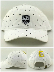 Los Angeles Kings New Adidas White Black All Over 'L' Clean Up Dad Era Hat Cap