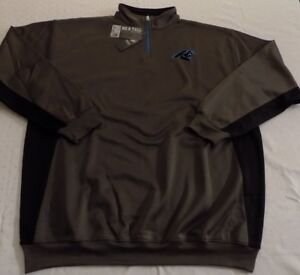 Carolina Panthers Quarter Zip Long Sleeve Pullover 2XL Charcoal Embroidered NFL