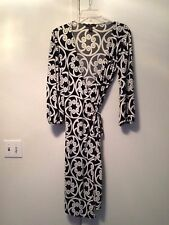 LAUNDRY BY SHELLI SEGAL BLACK/WHITE WRAP DRESS  SIZE S   EX/CON