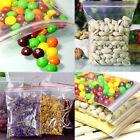 100pcs 5Sizes Ziplock Zip Zipped Lock Reclosable Plastic Poly Clear Seal Bags FR