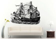 Wall Room Decal Vinyl Sticker Sea Ocean Water Ship Boat Pirate Large Big  L678
