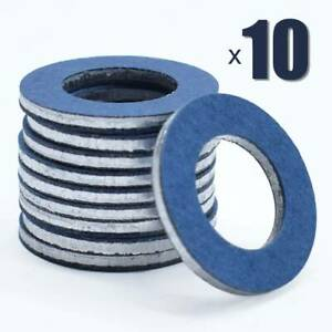 10X Sump Plug Washer Seal Ring Oil Drain Gasket Auto For Toyota OE#9043012031
