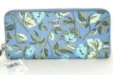Coach 67983 Slim Accordion Zip Around Wallet Sleeping Rose Slate Blue New $140