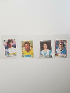 Pele 70, Maradona 90, Kempes 78, Beckenbauer 74 ,Mint World Cup Story  Panini