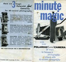 MINUTE MAGIC WITH YOUR POLAROID LAND CAMERA 38 WAYS TO BE BECOME A PHOTOGRAPHIC
