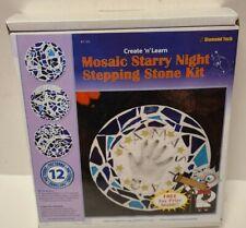 Brand New! Diamond Tech Christmas Holiday Mosaic Starry Night Stepping Stone Kit