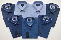 Mens Short Sleeve Regular Size Spring/Summer Print Shirts M to 2XL Cotton Blend