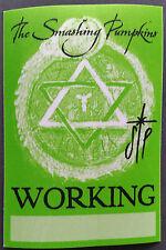THE SMASHING PUMPKINS - SATIN BACKSTAGE PASS - WORKING - 2000 TOUR - EXCELLENT