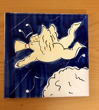 """Tile Art Angel Funny Vivid Colors Arts & Crafts FUNNY Italy.8"""" x 8"""""""