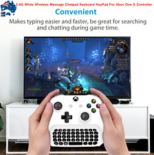 AU 2.4G White Wireless Message Chatpad Keyboard KeyPad For Xbox One S Controller