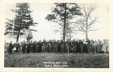 Crowd Watches Veterans Aim Their Rifles, Memorial Day 1950, Eagle Bend MN RPPC