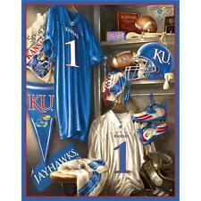 "University  of  Kansas  College Fleece  Panel  48"" X 60"""