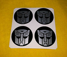Rueda De Aleación Pegatinas 4x90mm Transformers Autobots Plata Centro de logotipos Insignia Cap