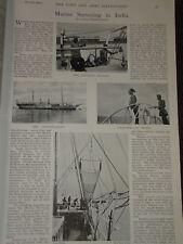 1898 MARINE SURVEY IN INDIA INVESTIGATOR LASCARS CREW