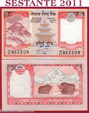 NEPAL - 5 RUPEES ND 2010  -   SIGN. 19  - P 60 - FDS / UNC